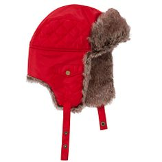 fab4953004765 Buy John Lewis Boy Ski Faux-Fur Trapper Hat, Red Online at johnlewis.