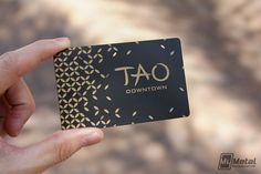 TAO Nightclub VIP Cards #goldscreenprinting #variabledata #blackcard #VIP #lasvegasVIP