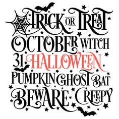 I think I'm in love with this design from the Silhouette Design Store! Halloween Vinyl, Halloween Words, Fairy Halloween Costumes, Halloween Quotes, Halloween Signs, Halloween Projects, Halloween Ideas, Haunted Halloween, Halloween Witches