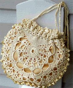 vintage purses | Vintage lace purse