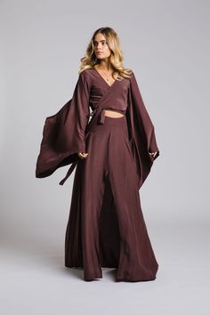 The Rose Gown by Leave Her Wilder. Bridesmaid gowns available online and ship internationally Rose Gown, Bridesmaid Gowns, Duster Coat, Leaves, Ship, Jackets, Free, Collection, Style