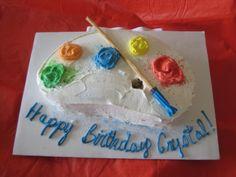 Artists' Palette Cake.