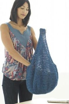 Handmade in the USA brings you: Free Crochet Pattern: Market Bag supplied by Lion's Brand Yarn Lion Brand® Recycled Cotton Pattern #: ...