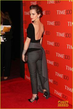 emma watson karlie kloss time 100 gala 10 Emma Watson keeps it classy in black while attending the 2015 Time 100 Gala held at Frederick P. Rose Hall, Jazz at Lincoln Center on Tuesday (April 21) in New York…