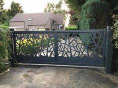 Home Gate Design, Front Gate Design, Front Gates, Entrance Gates, Compound Wall, Balustrades, Sliding Gate, Gate House, Driveway Gate