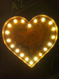 Vintage Marquee Light - Heart