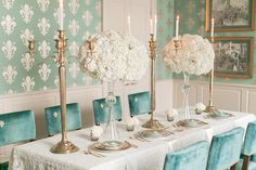 Trending - Ivory and Teal French Wedding Ideas www.weddingchicks.com/ Weddings by lulu Photography by Arte de Vie