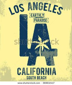 Los Angeles typography for t-shirt print , vector illustration