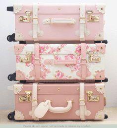 Fabulous Feminine Pink Luggage