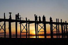 U Bein Bridge, Mandalay.