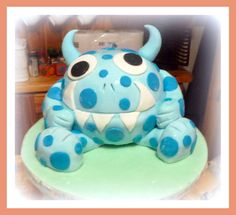 My little monster's birthday cake - by twinkle @ CakesDecor.com - cake decorating website