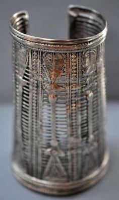 Silver cuff wire work cut through N. Afghanistan.