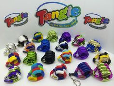 TANGLE CREATIONS ** TANGLE ** Sensory Fidgit Toy Autism SEN ADHD, Red, Black etc in Toys & Games, Educational Toys, Special Needs & Autism | eBay