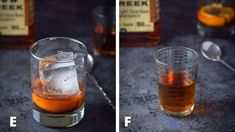 Ice and bourbon for the old fashioned cocktail Classic Old Fashioned Cocktail Recipe, Old Fashioned Drink, Cocktail Recipes, Cocktails, Bourbon, Delish, Alcoholic Drinks, Old Things, Ice