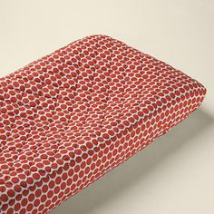 The Land of Nod | Baby Changers: Baby Orange Dot Changing Pad Cover in Changer Pad Cover