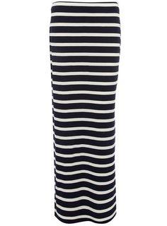 Dorothy Perkins  Ink stripe column maxi skirt