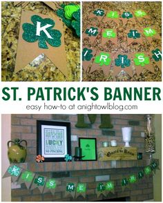Make this easy and fun St. Patrick's Day Banner in just minutes!