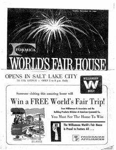 1964 Tribune special section on World Fair House
