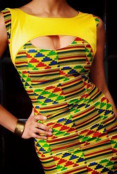 Cut Out robe africaine par Africandressshop sur Etsy                                                                                                                                                                                 Plus