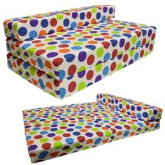 Gilda ® DOUBLE SOFABED - SPOTTY COTTON Fold Out Chair bed Guest Z Sofa bed Futon folding Mattress:Amazon:Kitchen & Home
