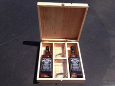One-of-a-kind gifts. He will enjoy this special gift. Handmade Jack Daniels Wooden gift box. www.etsy.com/shop/thinkeco2