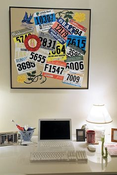 Mural Bibs http://runfitners.com/2014/06/11-ideas-deco-para-runners-decoracion-para-corredores/