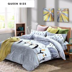 Cotton Penguin Queen Size Duvet Cover Set