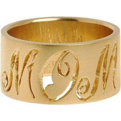 Cathy Waterman Gold Monogram Ring    $4,620.00
