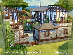 Find the hidden place of the forest where the fairies live ~ Found in TSR Category 'Sims 4 Residential Lots' Miss Ruby Bird — Aunt Klara's House Here's another build I made a. Sims 4 House Plans, Sims 4 House Building, Building Games, Building Ideas, Minecraft Designs, Minecraft Houses, Lotes The Sims 4, Sims 2, Wallpaper Earth