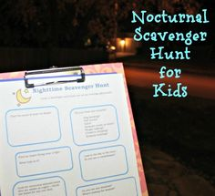 Nighttime Scavenger Hunt {from @kcedventures}