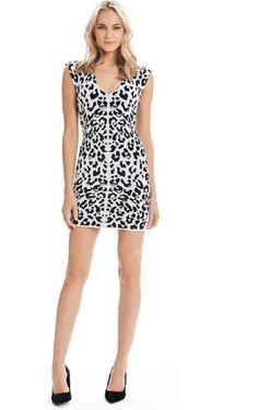 Jessie - A Fashion Boutique - Torn - Leanna Dress Animal - Jacquard, $370.00 (http://www.jessieboutique.com/products/torn-leanna-dress-animal-jacquard.html)