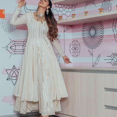 Gota Work Front Open Kurti With Plazo by Sourgrape's Online - Online shopping for Kurtas on MyShopPrime - Party Wear Indian Dresses, Pakistani Dresses Casual, Indian Fashion Dresses, Dress Indian Style, Indian Gowns, Indian Designer Outfits, Designer Dresses, Pakistani Dresses Online, Eid Dresses