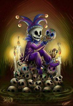 (FF) Oficio hasta la muerte (Office until death) by Akriel on DeviantArt Arte Horror, Horror Art, Dark Fantasy, Fantasy Art, Los Muertos Tattoo, Totenkopf Tattoos, Skull Artwork, Day Of The Dead Skull, Skull Wallpaper