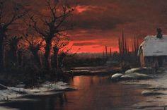 Nils Hans Christiansen, Sunset in Winter; 1900
