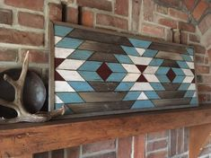 Excited to share this item from my shop: Reclaimed wood wall art - Southwestern wood wall decor - Navajo art inspired