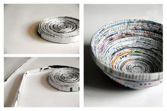 Klicke hier, um zu erfahren, wie man eine Schale aus Papier selber bastelt.