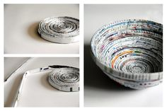 Bastelideen mit Papier: Papierschale selbermachen | SoLebIch.de