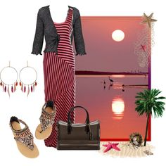 """Striped Maxi Dress 2"" by mary-rt on Polyvore"