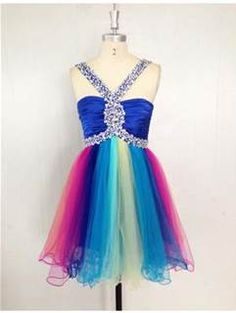 8a5b3937e3 Short rainbow prom dress Grade 8 Grad Dresses