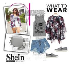 """""""Floral Loose Kimono"""" by nermina-okanovic ❤ liked on Polyvore featuring M.S.P., Vince, women's clothing, women, female, woman, misses, juniors and shein"""
