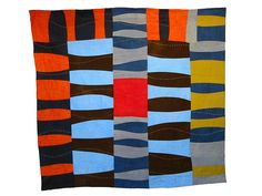 Quilt by Sherri Lynn Wood. I love the colors and the organic simplicity of the shapes.