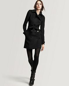 Burberry London Wool/Cashmere Double Breasted Belted Coat | Bloomingdale's