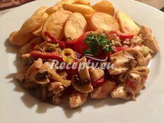 Krakonošovy krůtí kostky recept - Recepty z drůbežího masa - Recepty.eu Meat, Chicken, Food, Meal, Eten, Meals, Buffalo Chicken, Cubs