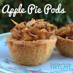 Apple Pie Pods - The Road to Loving My Thermo Mixer Chocolate Caramel Tart, Apple Pie Bites, Apple Tarts, Microwave Dishes, Bellini Recipe, Thermomix Desserts, Tart Shells, Apple Filling, Meals For One