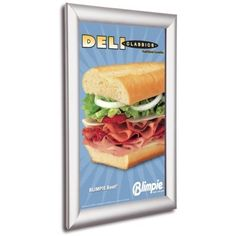 25mm Snap Frames Anodised Silver Poster Frames Advertising Shop Sign Wall Sign Picture Frame