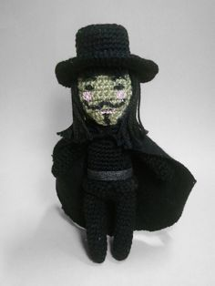 V for Vendetta amigurumi (no pattern)
