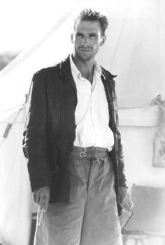 """Ralph Fiennes. Looks like this was taken on the set of """"The English Patient"""", a movie that I initially did not like; however, I changed my mind after seeing it a second time. I guess I just didn't pay close enough attention the first time and probably didn't understand much of the plot."""