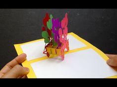 3D Birthday Ballons Pop-Up Card Tutorial - YouTube