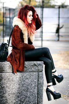 brown velvet coat w white collar - jeffrey campell