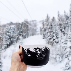 Mountain chalkboard mug.   DIY hand-painted with the pebeo chakboard porcelain paint.    Behind the picture: I took the pic while I was in ski lift in the Alpes with my family. We went there every winter when I was a kid but it was the first time I came back there since I moved to Canada in 2011! I love this place so much, so many memories...